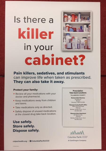Is there a killer in your cabinet poster