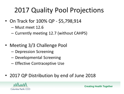 2017 Quality Pool Projections Slide image