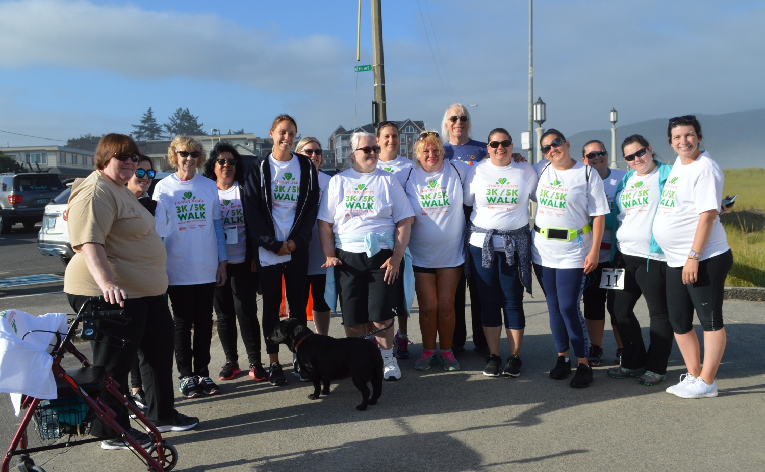 Group photo from the Healthy Hearts walk in Seaside